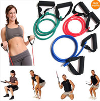 Yoga Hair Bands exercise stretch band - Resistance Band Stretch Fitness Tube Cable For Workout Yoga Muscle Exercise Tool
