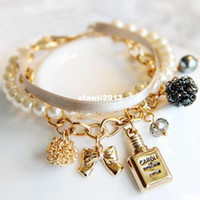 Wholesale VIVI restore ancient ways bracelet couple bracelet pearl bracelet ribbon wristlet jewelry