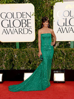 Wholesale 2013 th Golden Globe awards Red Carpet Dresses Shaun Robinson Beaded Mermaid Pageant Dresses