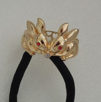 Wholesale New European Vintage Style Gold Silver Alloy Rabbit Hair Band mix colors