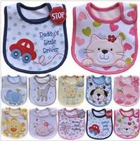 Wholesale Infant saliva towels layer Baby Waterproof bibs Baby wear accessories kids cotton apron handkerchief children animal bib