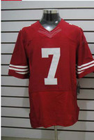 Wholesale Football Jerseys Elite American Red Jerseys Rugby Jersey Mix Order Free