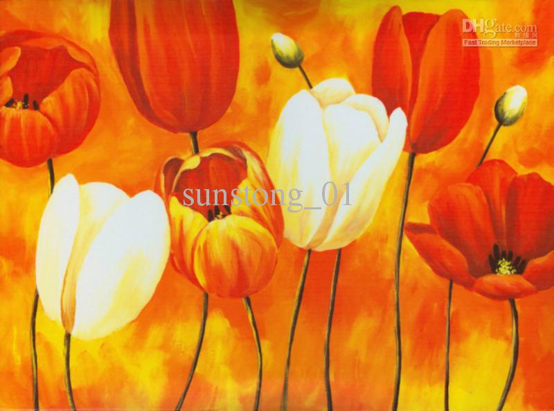Cheap Digital Printing Oil Painting Decorative Painting Best One Panel ...: www.dhgate.com/store/product/tulip-painting-canvas-painting-flower...