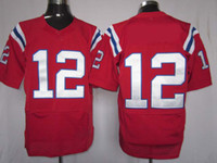 Football american cottons - 2012 Elite American Football Red Jerseys Rugby Jersey Mix Order
