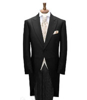 Cheap Actual Images Custom made tail coat Best Wool Blend Plus Size tailor made mens tuxedos