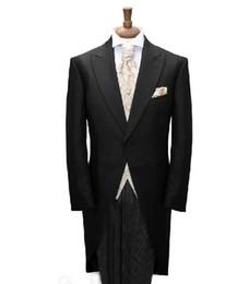 Wholesale Custom Made to Measure men s BESPOKE tuxedo black mens tuxedos Tailored tailcoat for men wedding suit Jacket Pants vest tie pocket square