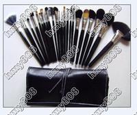 Cadeau gratuit!! EMS nouvelle pinceau de maquillage 24pcs CUIR sachet de maquillage (30pcs / lot)