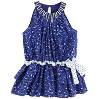 Wholesale 2013 new children girl blue floral dress sarong dress