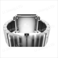 Wholesale New Arrival Aluminum Watch Band Wrist Strap for iPod Nano G Sliver Black