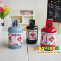 Wholesale creative new design gas cylinder pencil sharpener double hole pencil sharpener