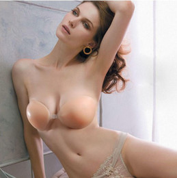 Wholesale Promotion Price Women Nubra Strapless Silicon Bras Nude color Invisible bra bust shaper