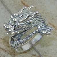 Buy two get one free 925 sliver jewelry Dragon shape rings w...