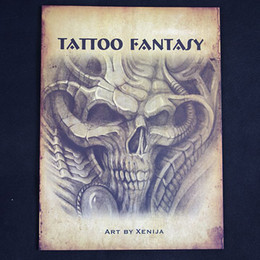 Wholesale N XENIJA TATTOO FANTASY Sketchbook TATTOO FLASH BOOK A4 Sketch quot