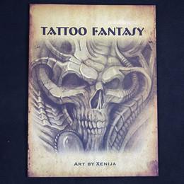 Wholesale N XENIJA TATTOO FANTASY Sketchbook TATTOO FLASH BOOK A4 Sketch quot