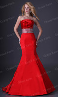 Model Pictures elastic bandage - Grace Karin New Rose Pleated Strapless Evening Gown Stunning Beading Bandage Dress Party Prom Dress CL3825