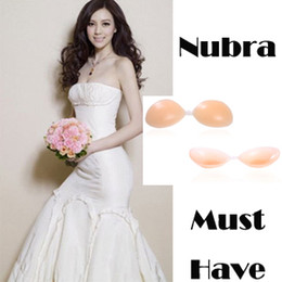 Wholesale Lowest Price Lady Nubra Nude Invisible Bras Strapless Silicon women shape bra hot A B C cup