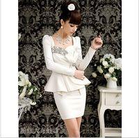 Wholesale Elegant Lady Inlay Rhinestone Butterfly Ruffle Slim Dress Womens Mini Dresses
