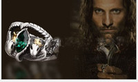 Wholesale Retro Lord of the Rings Ring The Lord of the Rings Bahra crystal diamond ring Aragon Ring Size assorted