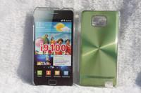 Wholesale DHL For Samsung Galaxy S2 i9100 Auminium Case Cover CD Aluminium Plastic case