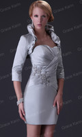 mother of the bride dress - Charming Mother of the Bride Dresses Satin Jacket Bolera CL3826