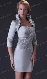 Wholesale Charming Mother of the Bride Dresses Satin Jacket Bolera CL3826