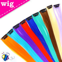 Wholesale Colorful Popular Colored Clip on In Hair Extension quot Long Celebrity Hairstyle