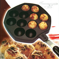 Wholesale Small octopus balls machine grill plate takoyaki mould burning stove with handle plate grill needle