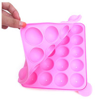 Wholesale Silicone Tray Pop Cake Stick Pops Mould Cupcake Baking Mold Party Kitchen Tools