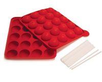 Wholesale 20 hole ball pops babycakes Silicone Cake Pop Pan With Sticks Cupcake Baking Mold