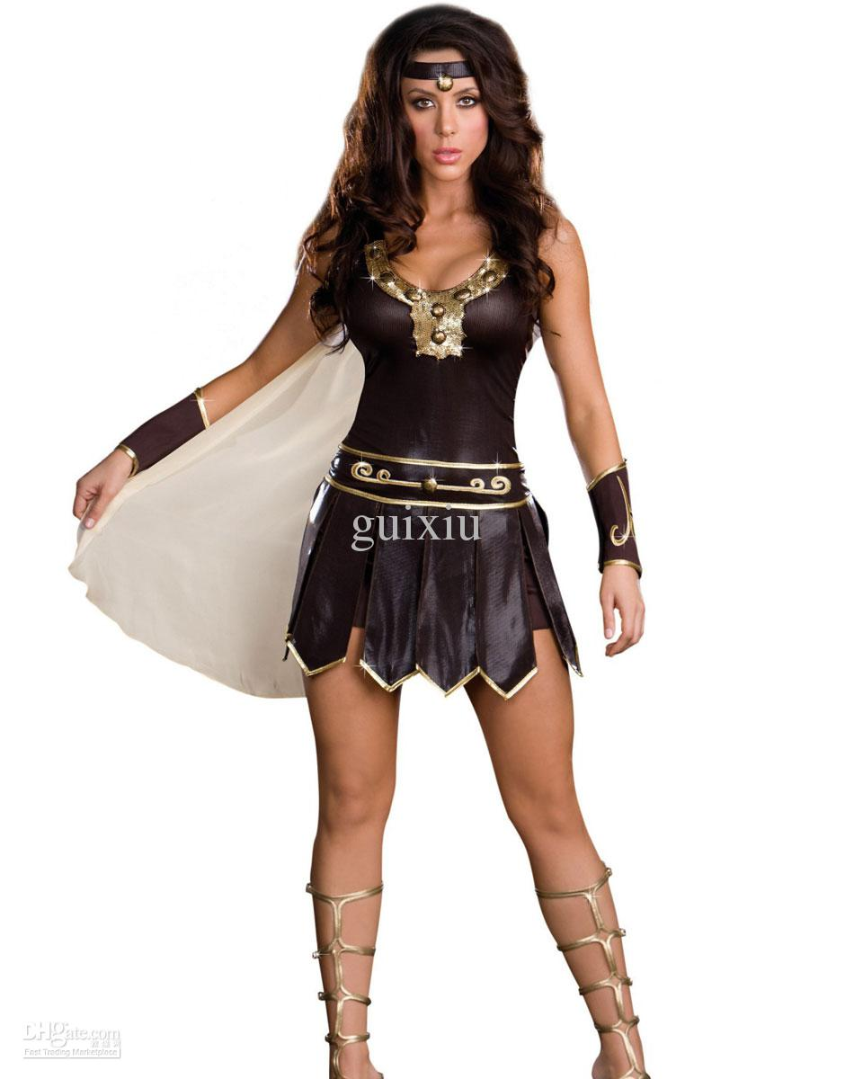 Sexy Cosplay Warrior Costumes For Halloween Babe-A-Lonian Warrior ...
