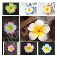 foam plumeria - 200pcs Mixed Plumeria Hawaiian Foam Frangipani Flower Bloom Wedding Party Decoration Supplies