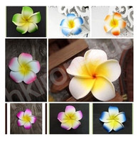 Wholesale Mix Plumeria Hawaiian Foam Frangipani Flower Bloom Wedding Party Decoration