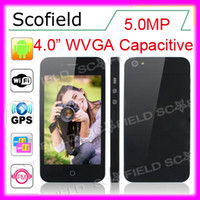Wholesale X5 Inch WVGA Capacitive screen MTK6573 GHz Smart phone MP Camera Android I5 G GPS