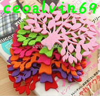 Wholesale Colorful Felt Tree Design Cartoon Cup Mat Sweet Cup Pad Coaster Cup Cushion Cooking Tools Free Ship