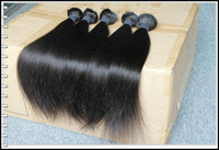 Wholesale Mix length quot quot Indian Virgin Remy Hair Double Weft Natural Color Weave Straight g A