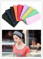 Wholesale Mix Color Towel HeadwrapToweling Sport Hair Band Yoga Hair Band Yoga Head Band