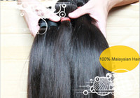 Wholesale Mix length quot quot Malaysian Virgin Remy Hair Double Weft Natural Color Weave Straight g