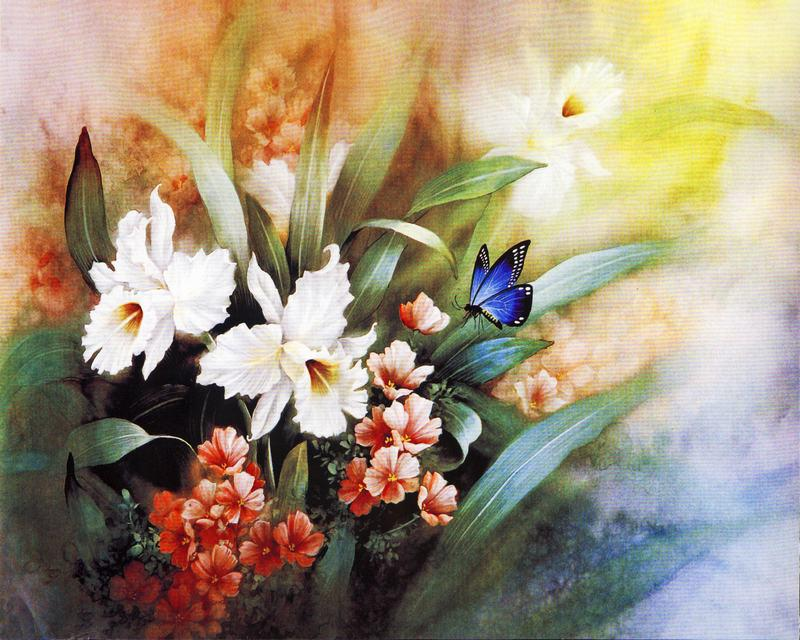 Famous Paintings of Flowers Garden Painting Flower