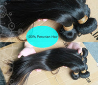 Wholesale 10 OFF A Unprocessed HUMAN HAIR Weft Brazilian Indian Malaysian Peruvian Virgin Hair Extensions Natural Color Weave Straight Cheap