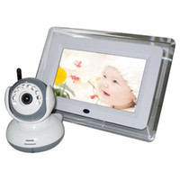 Wholesale 7 Inch Wireless Night Vision Camera Two Way Audio Baby Monitor Channels within GHz