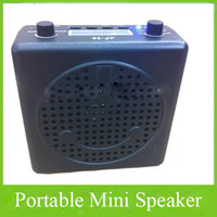 Wholesale Professional Portable Laptop Mini Music Amplifier Speaker BOOM Mini PA Loudspeaker Box With Earphone