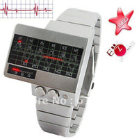 alpha led display - GeekThink Alpha Centauri Heart Rate Display Red LED Men Gift Watch