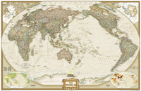 Cheap Archaize Exquiste Canvas World Map 130*90cm Decoration Home Office Use