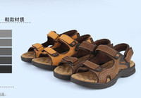Wholesale Summer Men s Sandals male sandals casual shoes genuine leather sandals trend slippers
