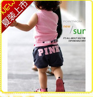 Wholesale Baby Girls Sumer Clothing Suits Girls Sleeveless Vest and Shorts Colors Years Pink Sets KLZ T0081