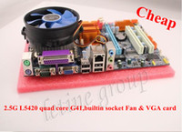 Wholesale Cheapest G41 motherboard L5420 G quad core CPU with Fan socket and VGA card for desktop computer