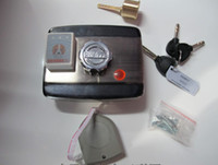 Knob Lock electronic key door lock - Electronic Door Lock With ID Card Reader Key And Remoted Control