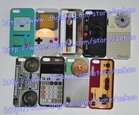 Wholesale Cell Phone Accessories Hard Plastic Case for iphone G cover tape cassette cassette radio camera calculator skin cases