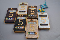 Wholesale For iPhone PU leather Coated Skin Hard Electroplate Chrome Flip Case for G football pattern cases