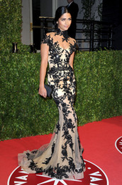 Wholesale 70th Golden Globe Awards Black Lace camila alves zuhair murad spring couture Lace Celebrity Dresses
